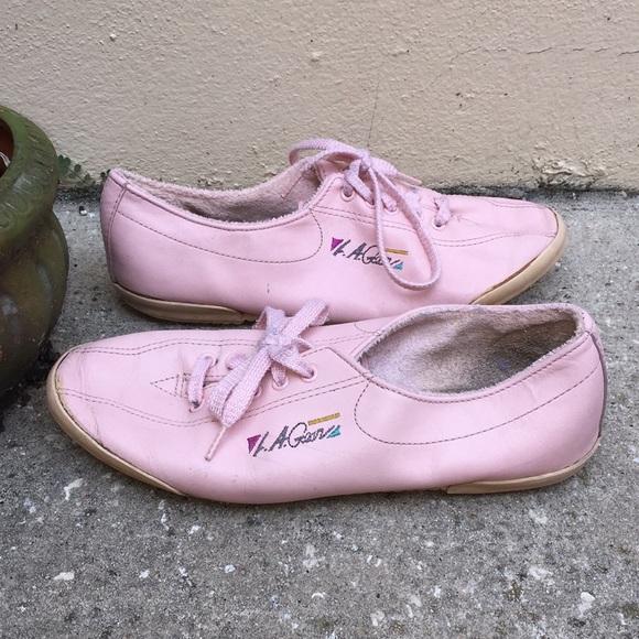 Vintage La Gear Leather Sneakers